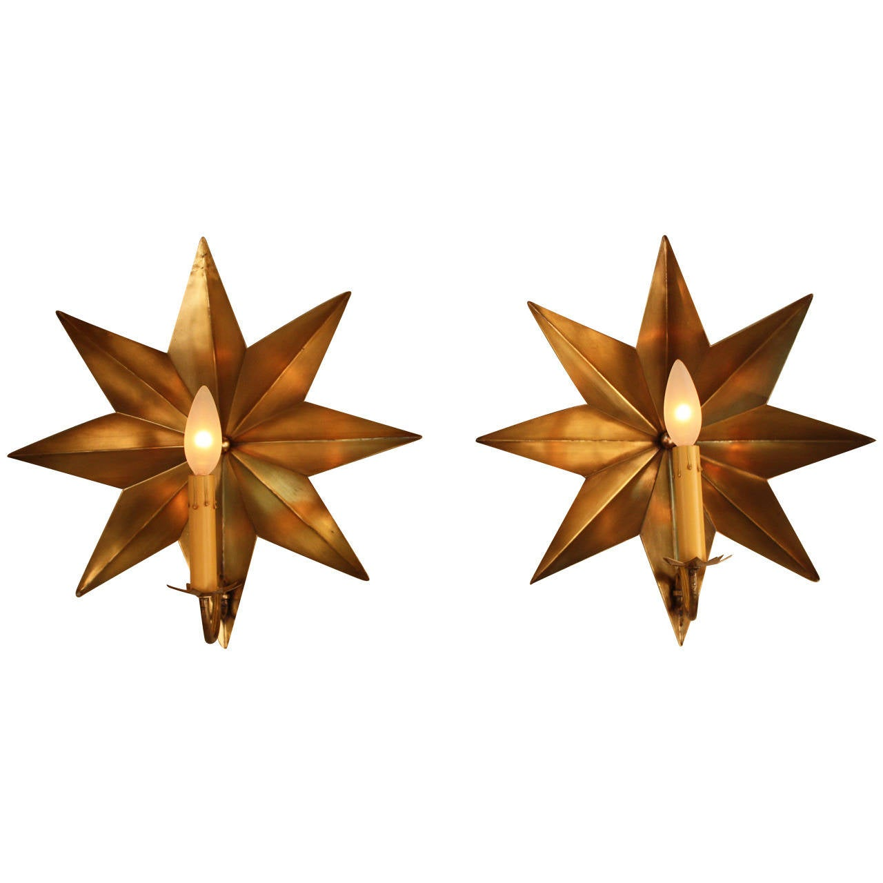 Wall Sconce With Star : Bronze Star Wall Sconces at 1stdibs