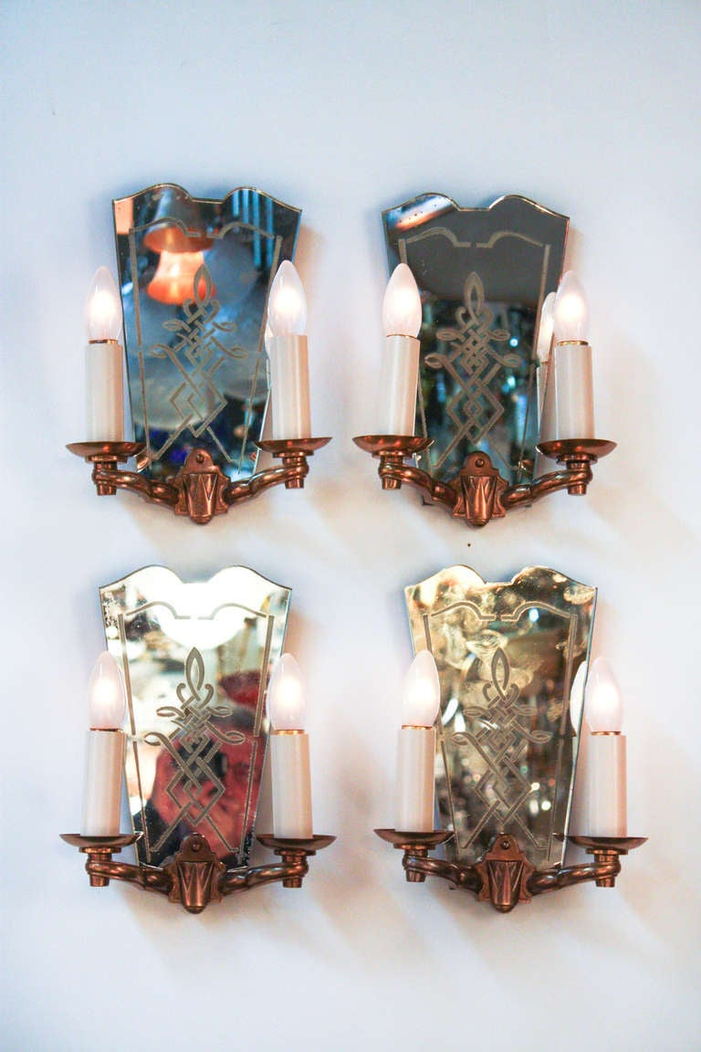 Wall Sconces Beside Mirror : French Mirror Wall Sconces at 1stdibs