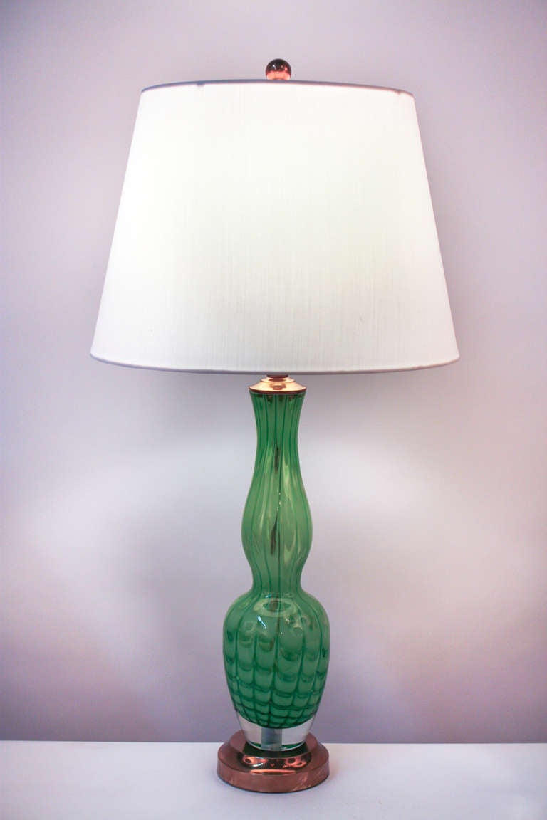 1970 39 s blown glass table lamp at 1stdibs. Black Bedroom Furniture Sets. Home Design Ideas