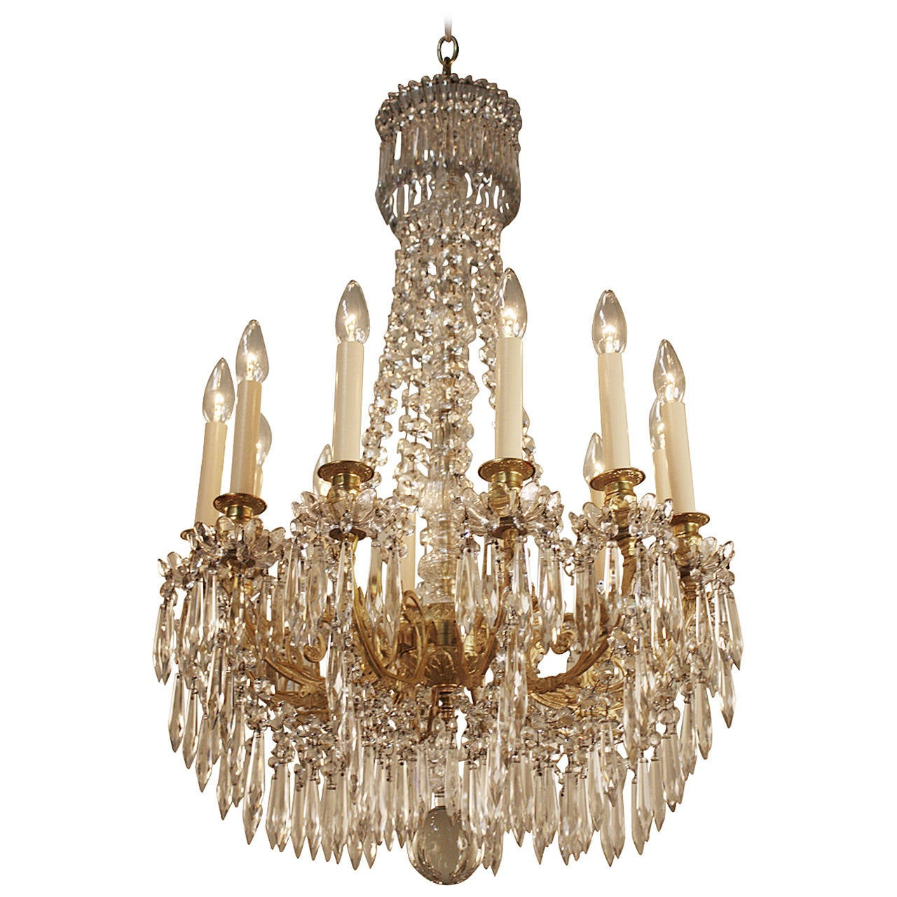 19th Century French Crystal Chandelier at 1stdibs