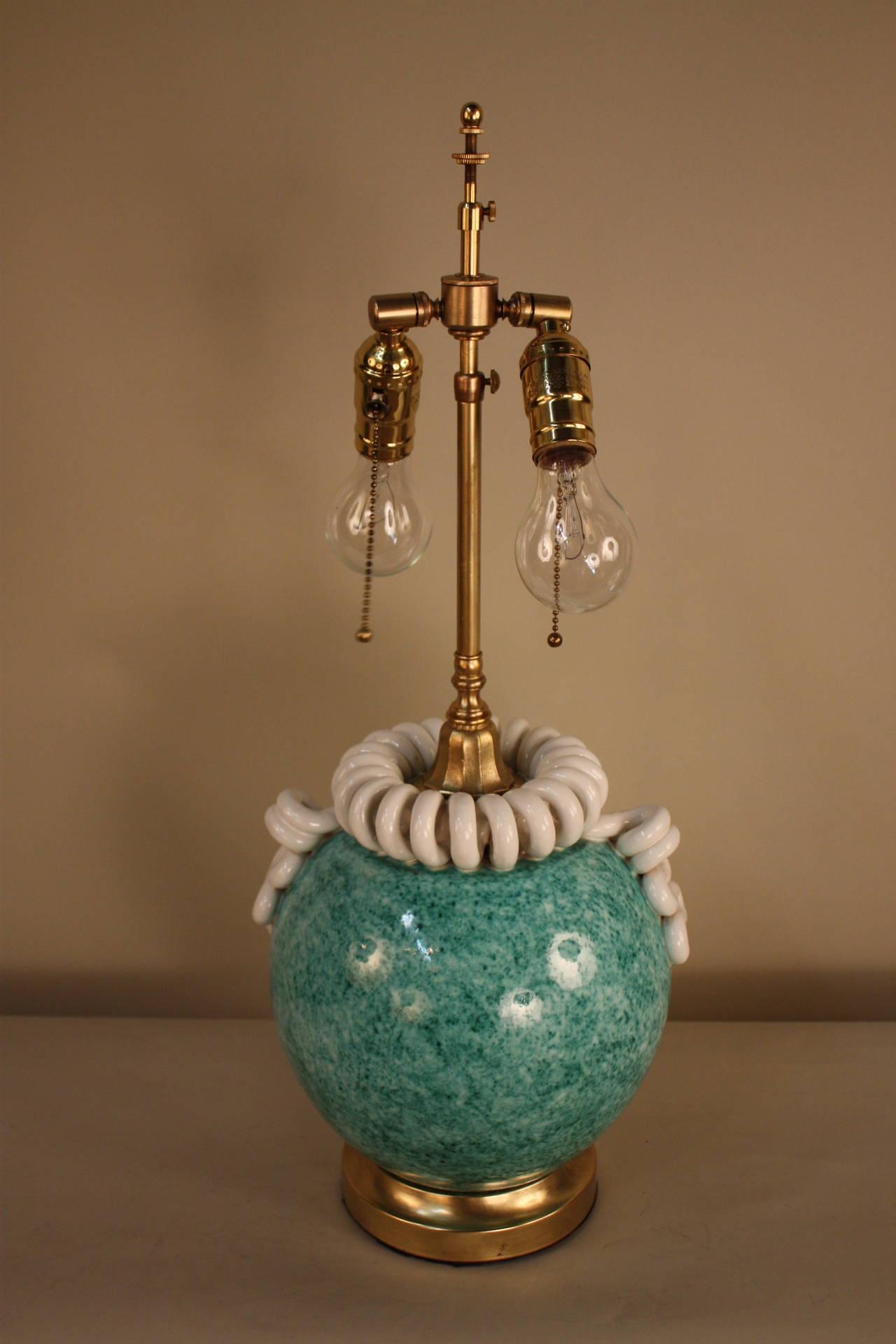 Handmade Ceramic Lamps : Italian handmade pottery table lamp at stdibs