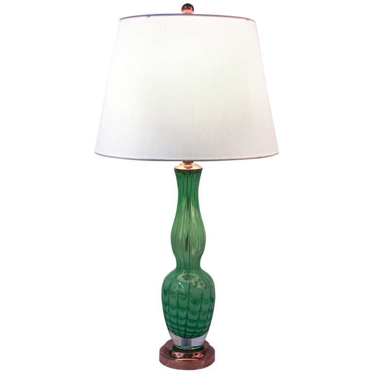 this 1970 39 s blown glass table lamp is no longer available. Black Bedroom Furniture Sets. Home Design Ideas