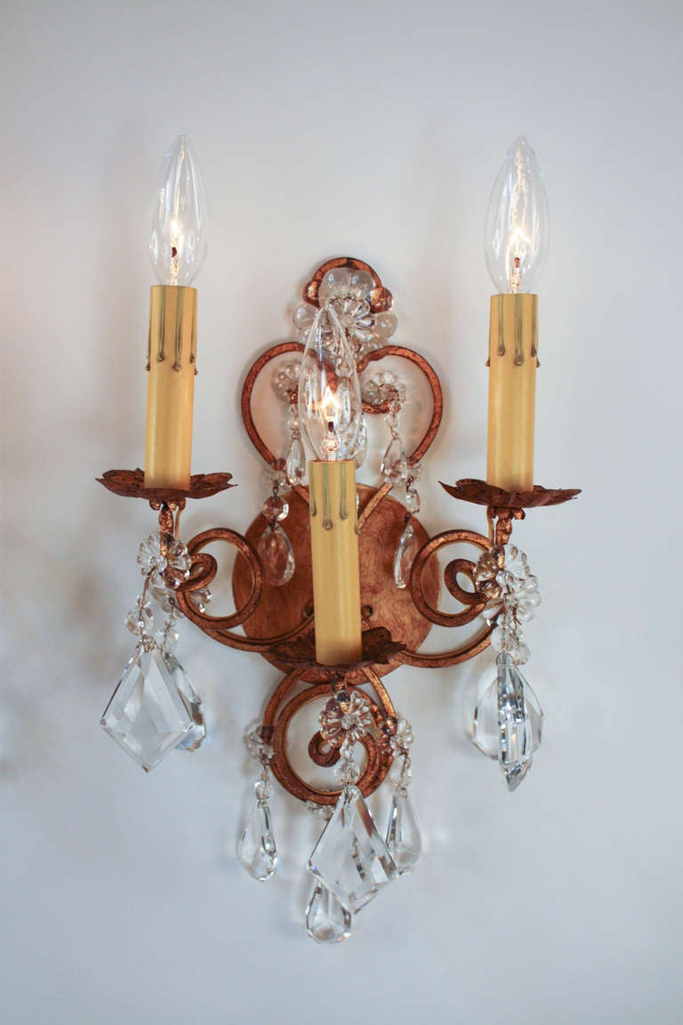 Italian Made Wall Sconces : Mid-Century Italian Wall Sconces at 1stdibs