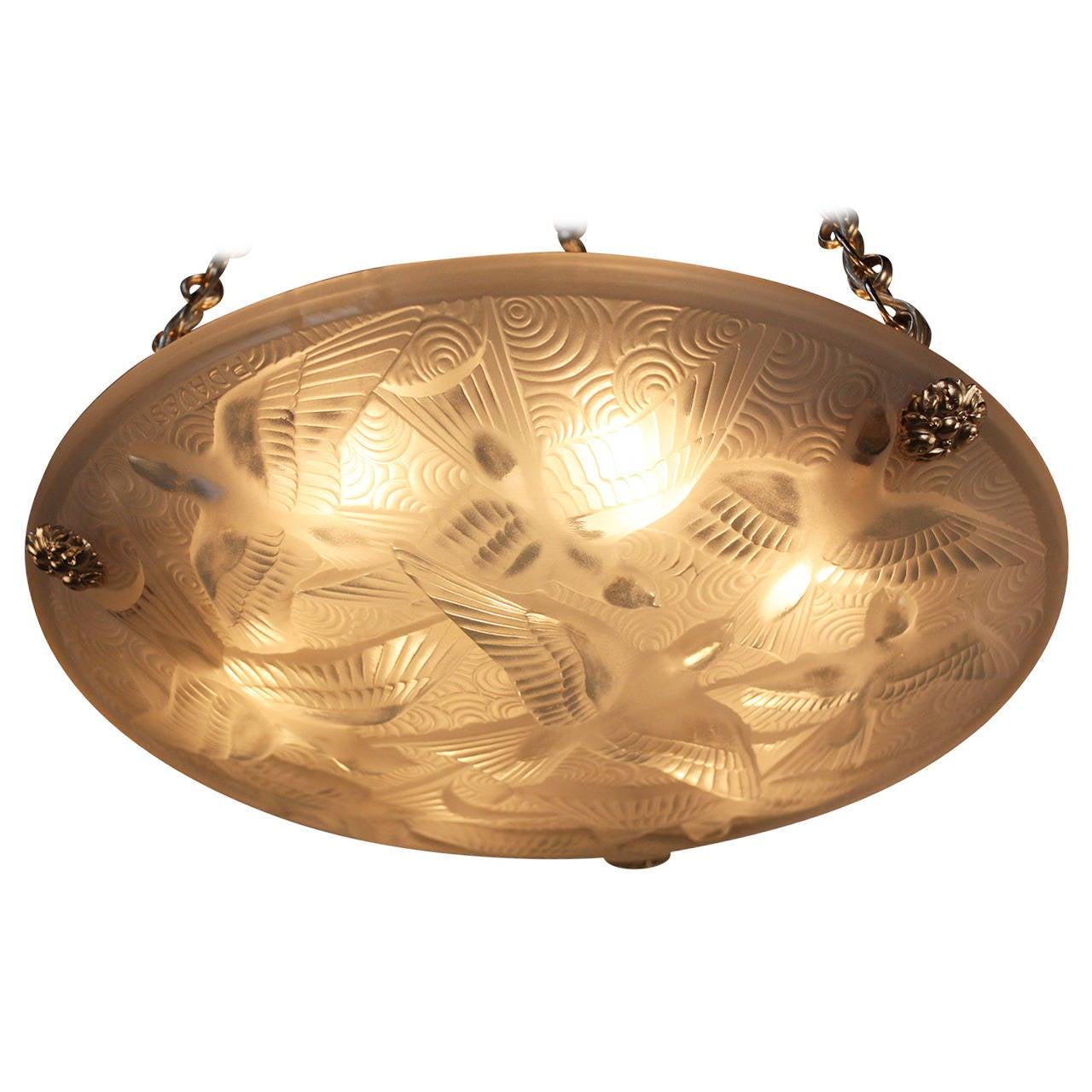 Elk Lighting Pierre: Wonderful Art Deco Chandelier By Pierre D'Avesn At 1stdibs
