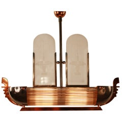 Art Deco Chandelier  In Shape Of A Boat
