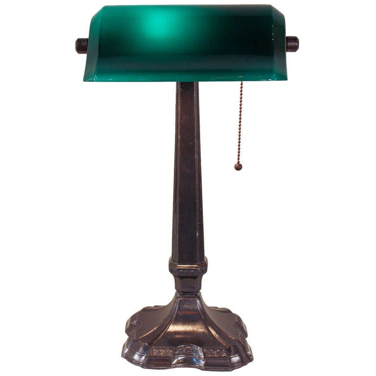 greenalite banker 39 s lamp at 1stdibs. Black Bedroom Furniture Sets. Home Design Ideas