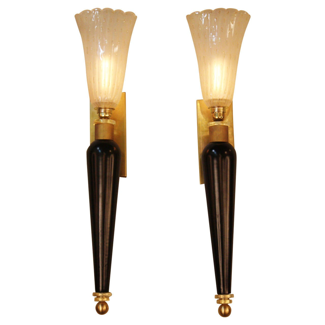 Murano Glass Wall Lamps : Murano Glass Wall Sconces at 1stdibs