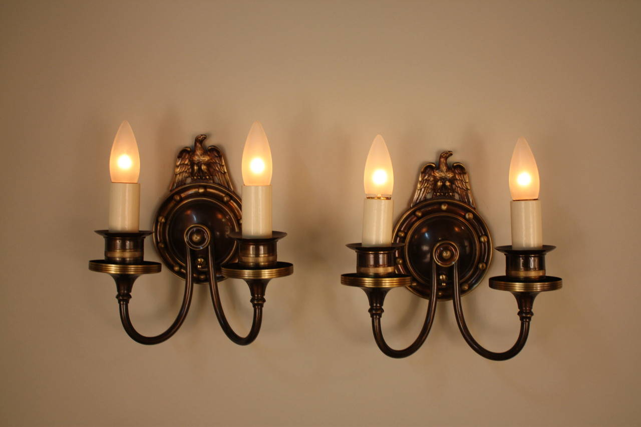 Lightolier Exterior Wall Sconces : American Bronze Wall Sconces by Lightolier For Sale at 1stdibs