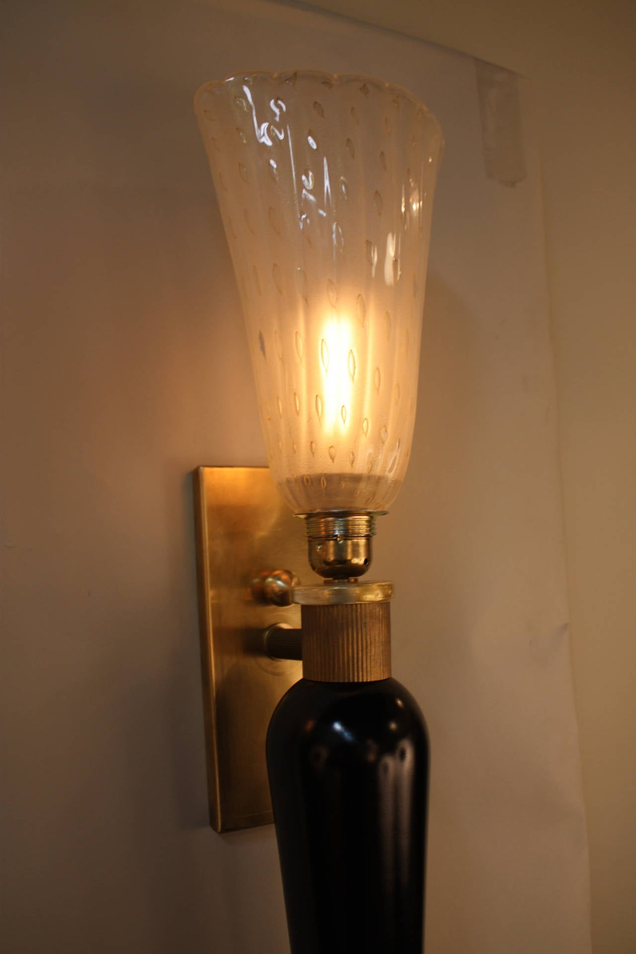 Wall Sconce No Wiring Electrical Diagram Sconces Murano Glass At 1stdibs Lighting Without Outlet To
