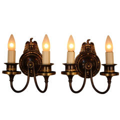 American Bronze Wall Sconces by Lightolier