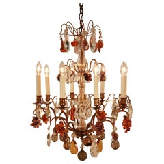 Colorful French Crystal Chandelier