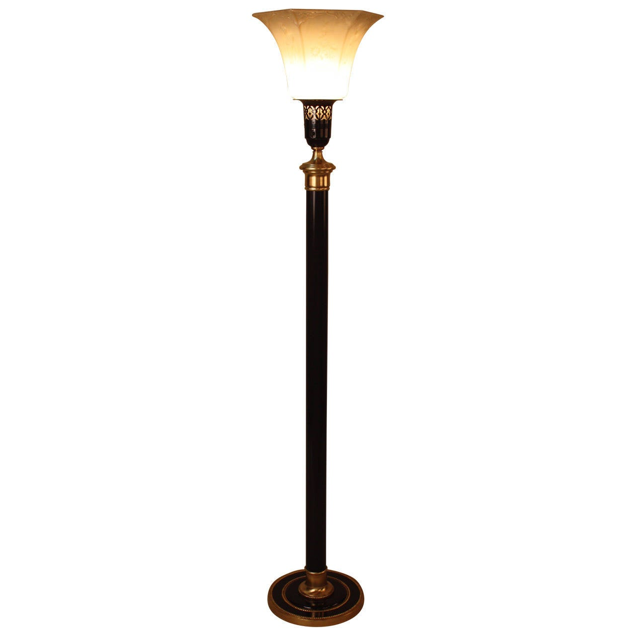 American Torchiere Floor Lamp At 1stdibs