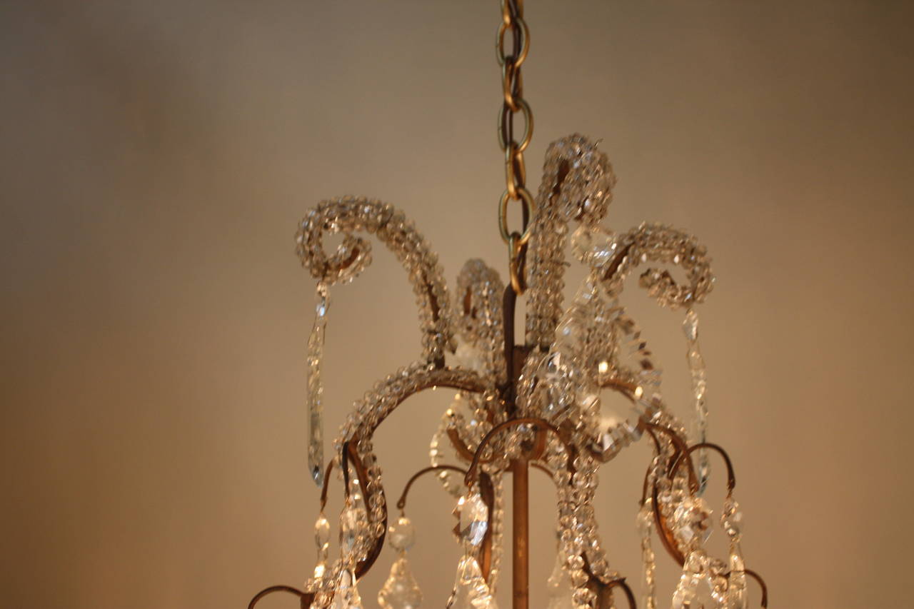Amazing Handcrafted Italian Crystal Chandelier At 1stdibs