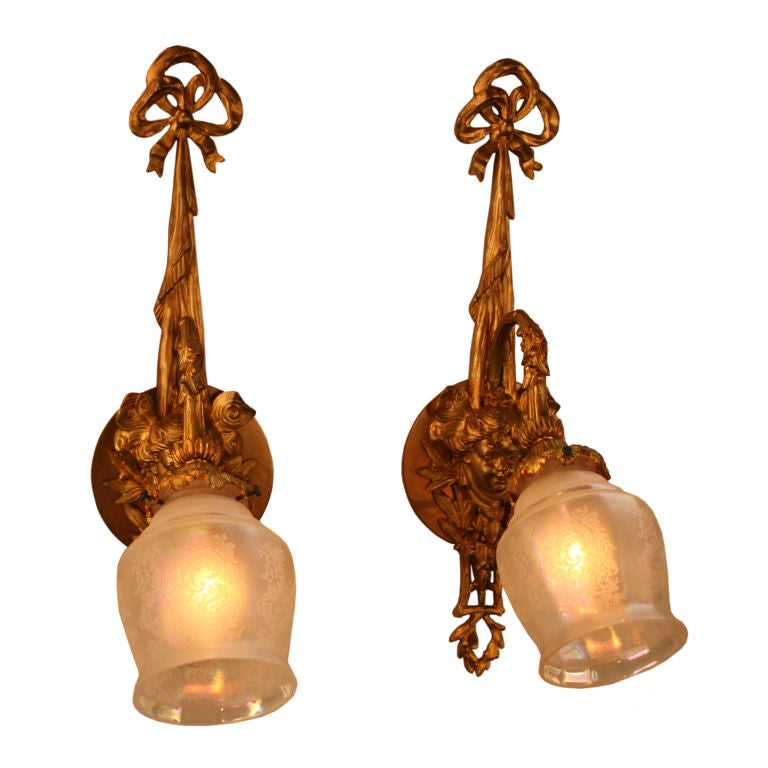 French Bronze Wall Sconces at 1stdibs