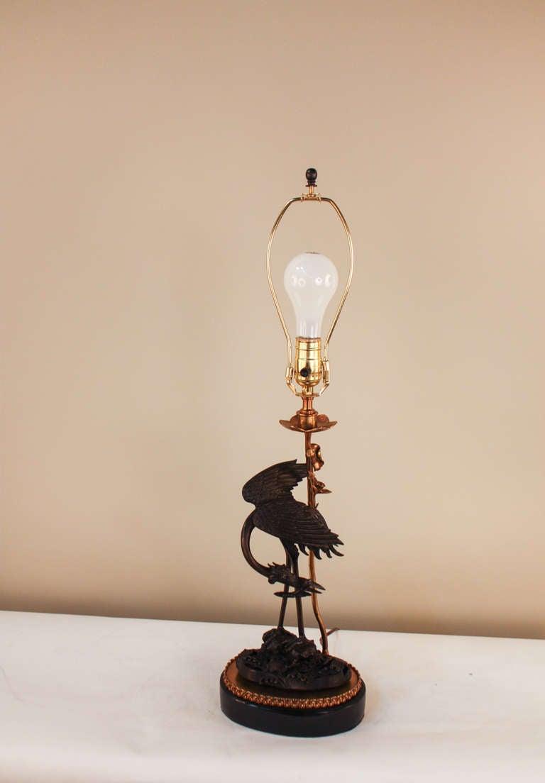 Rare Chinese Dragon Table Lamp At 1stdibs