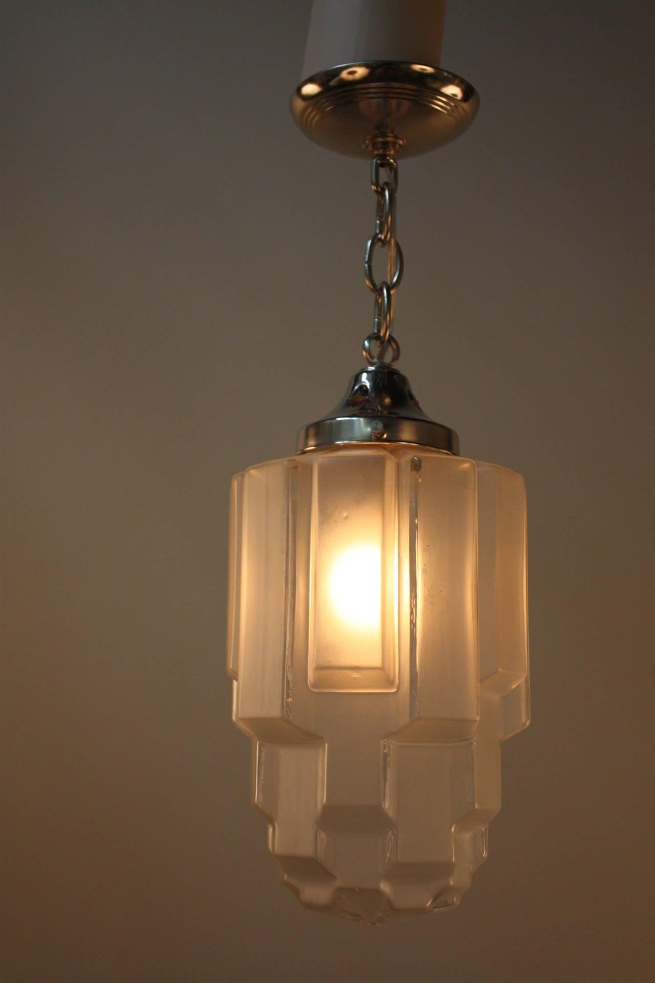 1930s art deco pendant light at 1stdibs for Artistic pendant lights