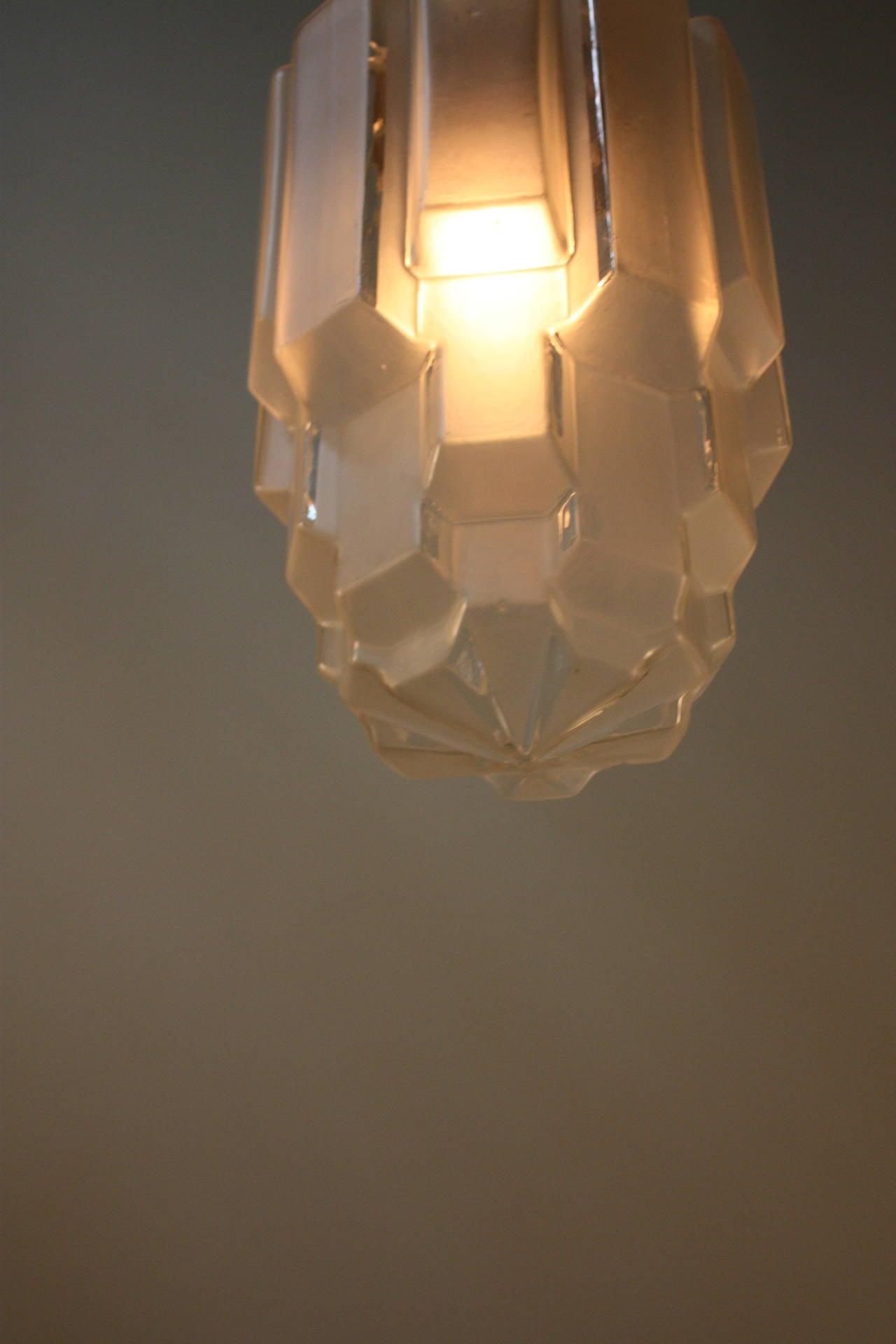 1930s Art Deco Pendant Light At 1stdibs