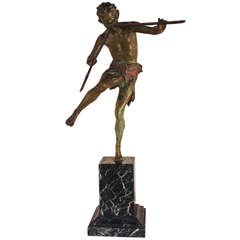 Pan Bronze Sculpture by Broudt