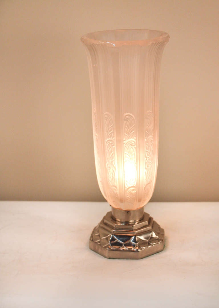 1920s Art Deco Torch Style Table Lamp At 1stdibs