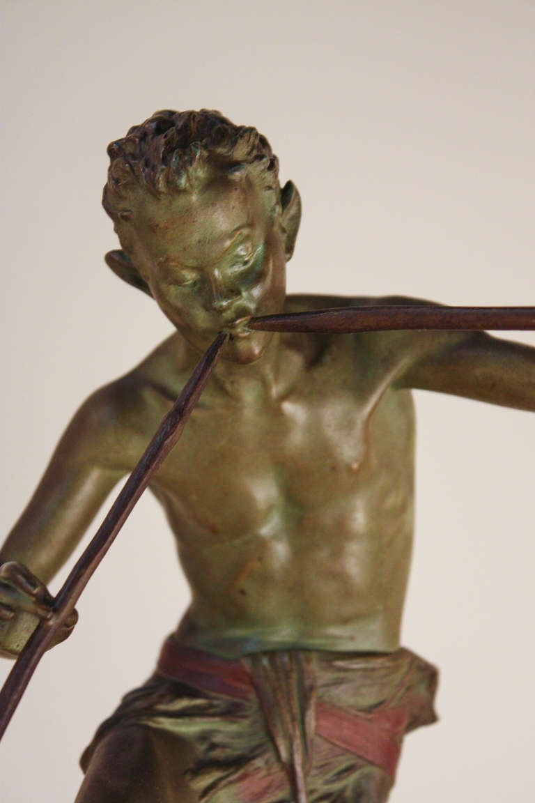 20th Century Pan Bronze Sculpture by Broudt For Sale