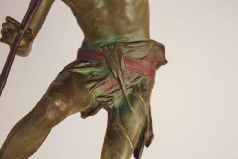 Pan Bronze Sculpture by Broudt For Sale 1