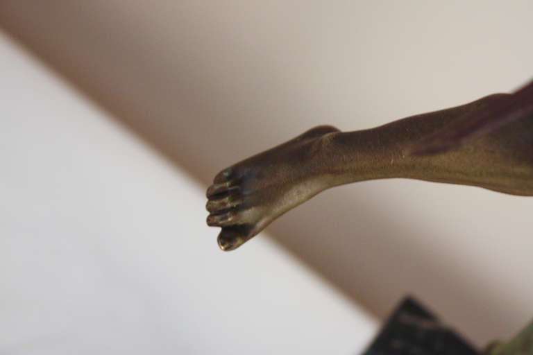 Pan Bronze Sculpture by Broudt For Sale 2