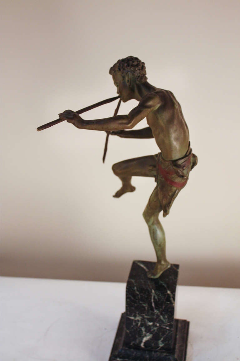 Pan Bronze Sculpture by Broudt For Sale 3