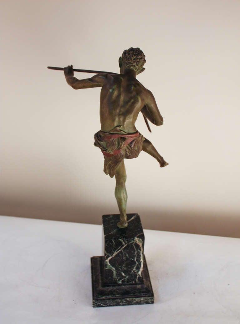 Pan Bronze Sculpture by Broudt For Sale 4
