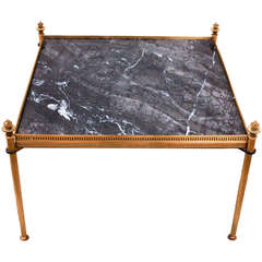 Mid-Century Marble and Bronze Table