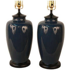 Pair Of American Pottery Lamps