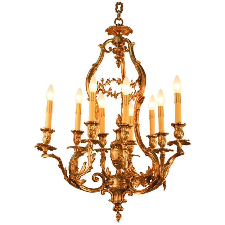 Amazing art nouveau chandelier at 1stdibs for Chandelier art nouveau