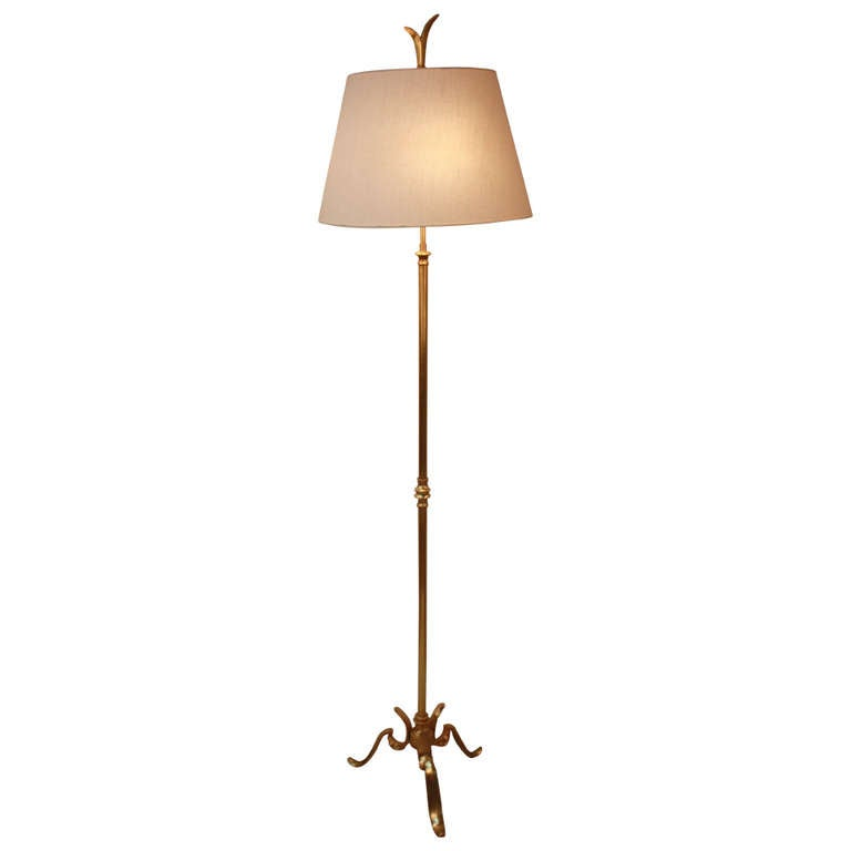 french mid century bronze floor lamp. Black Bedroom Furniture Sets. Home Design Ideas