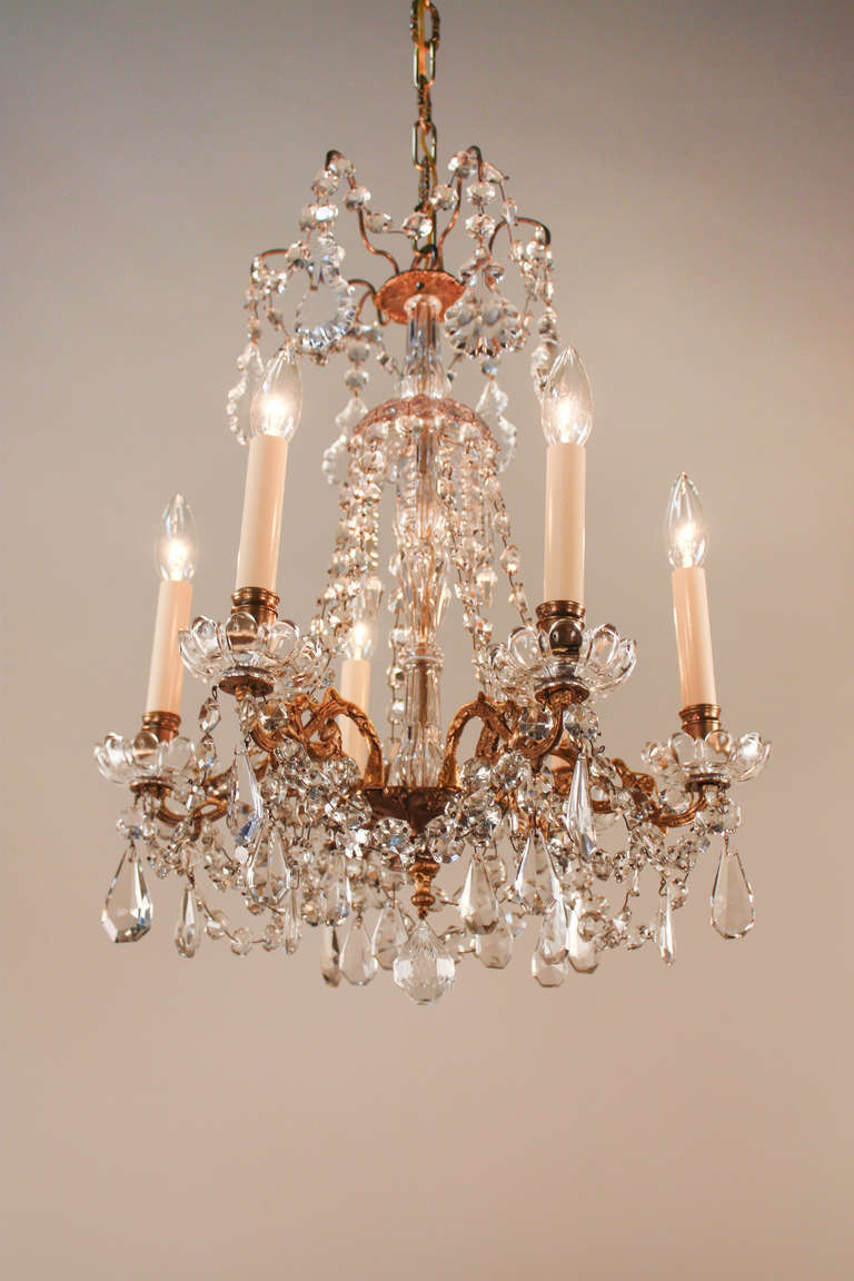 Classic Crystal Chandelier At 1stdibs