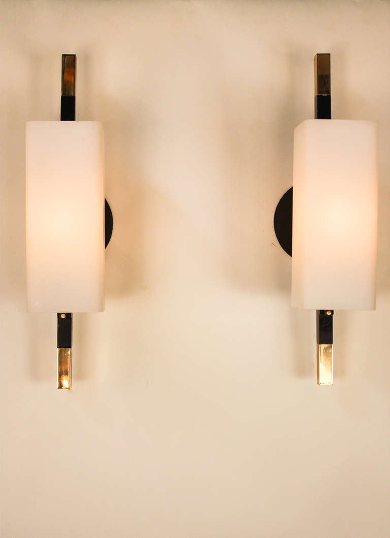 Pair of Modern Style Wall Sconces at 1stdibs