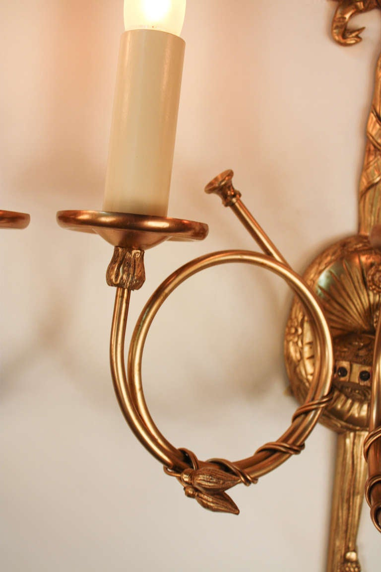 Skyrim Wall Sconces Not Working : Fantastic Pair of 1930 s Bronze Wall Sconces at 1stdibs