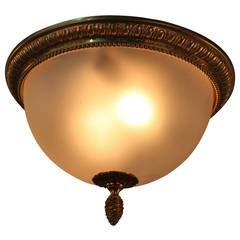 French 1950s Flush Mount Light