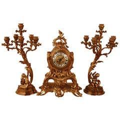 Clock Set By H. Luppens Paris