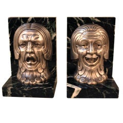 French Art Deco Book Ends By C Charels