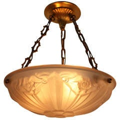 French Art Deco Pendant Light