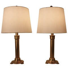 Pair Industrial Style Bronze Table Lamp.