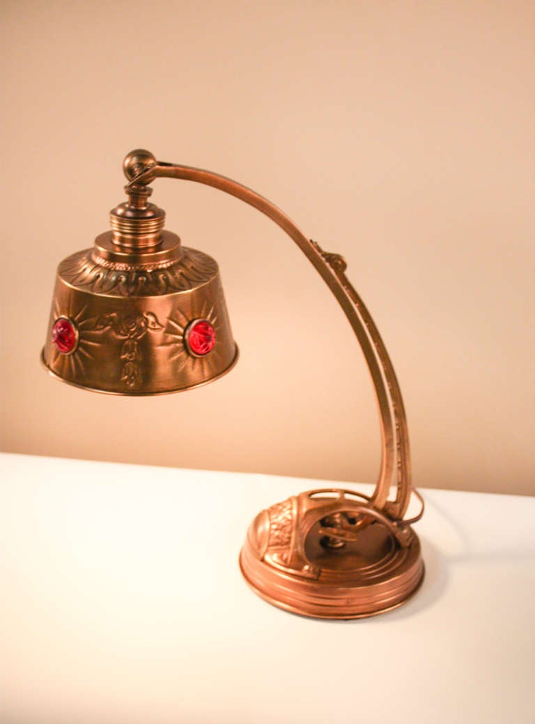 This american art nouveau table lamp is no longer available - French Art Nouveau Desk Lamp At 1stdibs