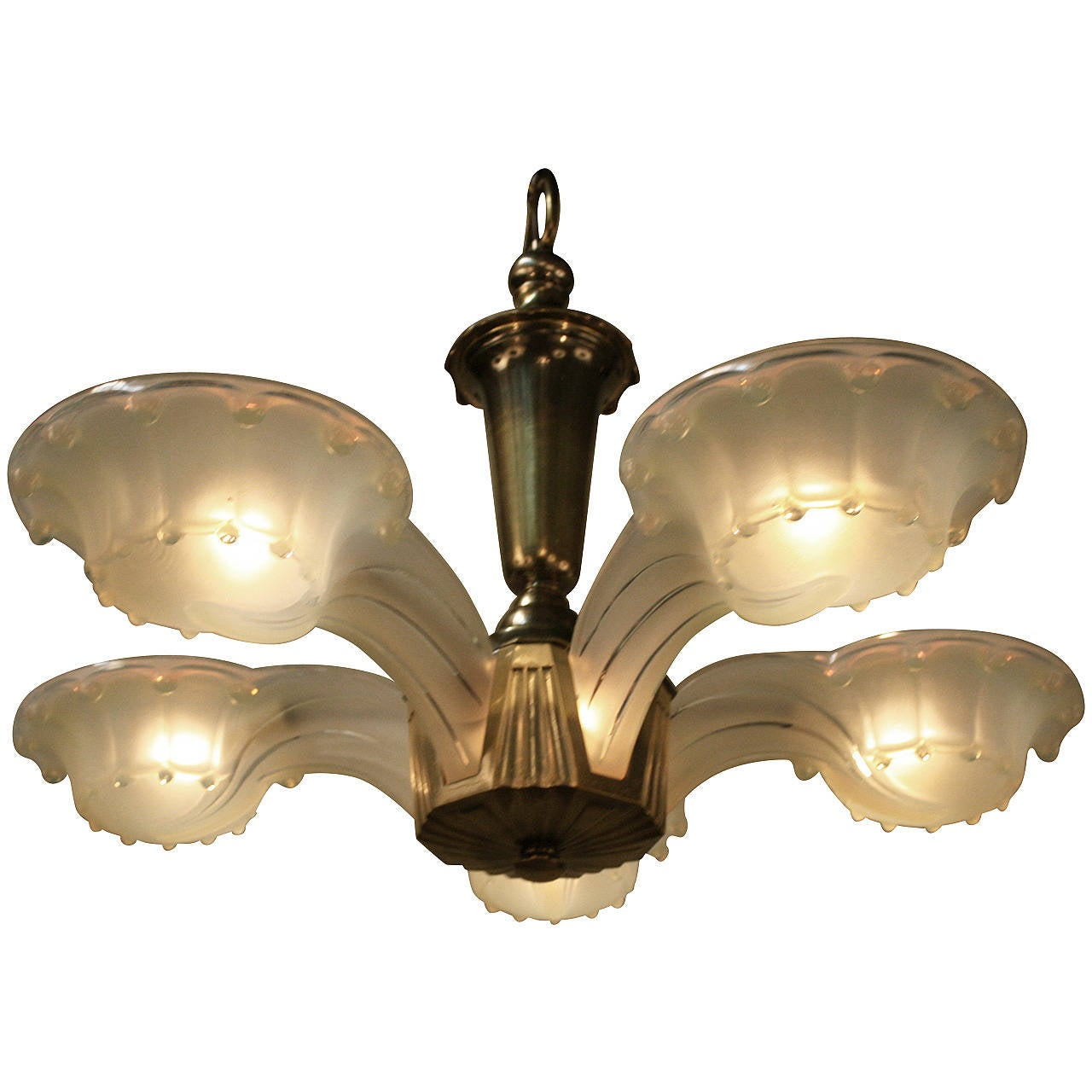 Unique French Art Deco Chandelier At 1stdibs