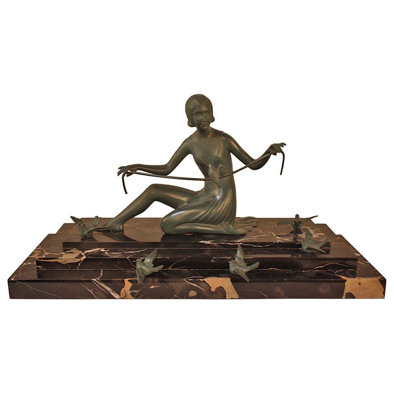 Art Deco Bronze Sculpture by Zoltan Kovats