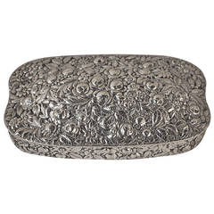 American Repousse Sterling Box by Theodore B. Starr