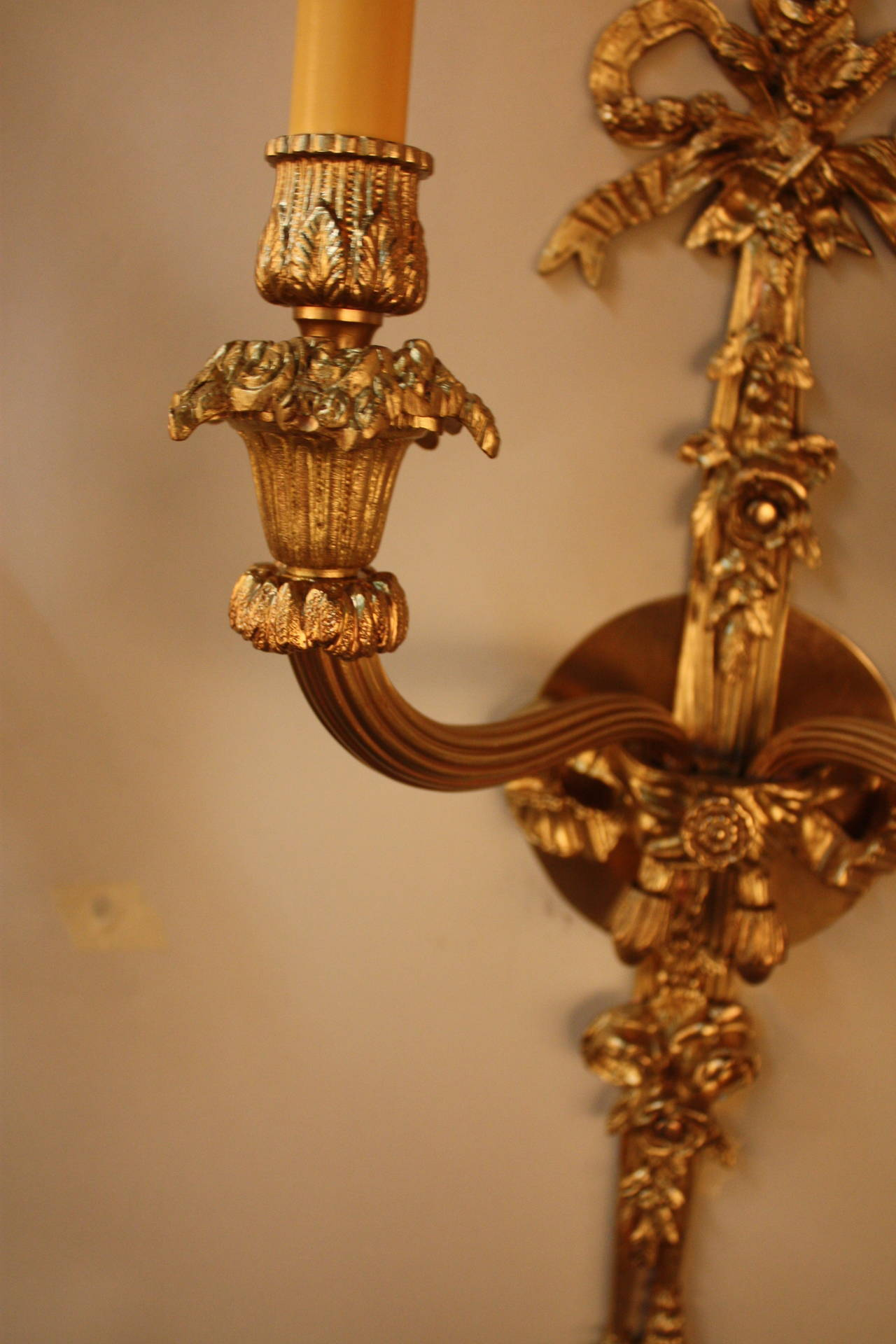 French Brass Wall Sconces : French Bronze Wall Sconces For Sale at 1stdibs