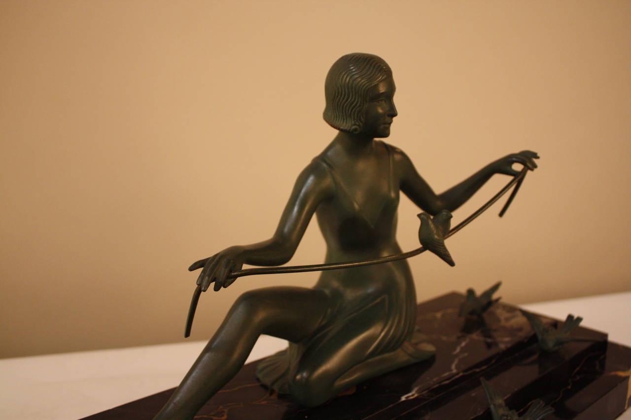 French Art Deco Bronze Sculpture by Zoltan Kovats