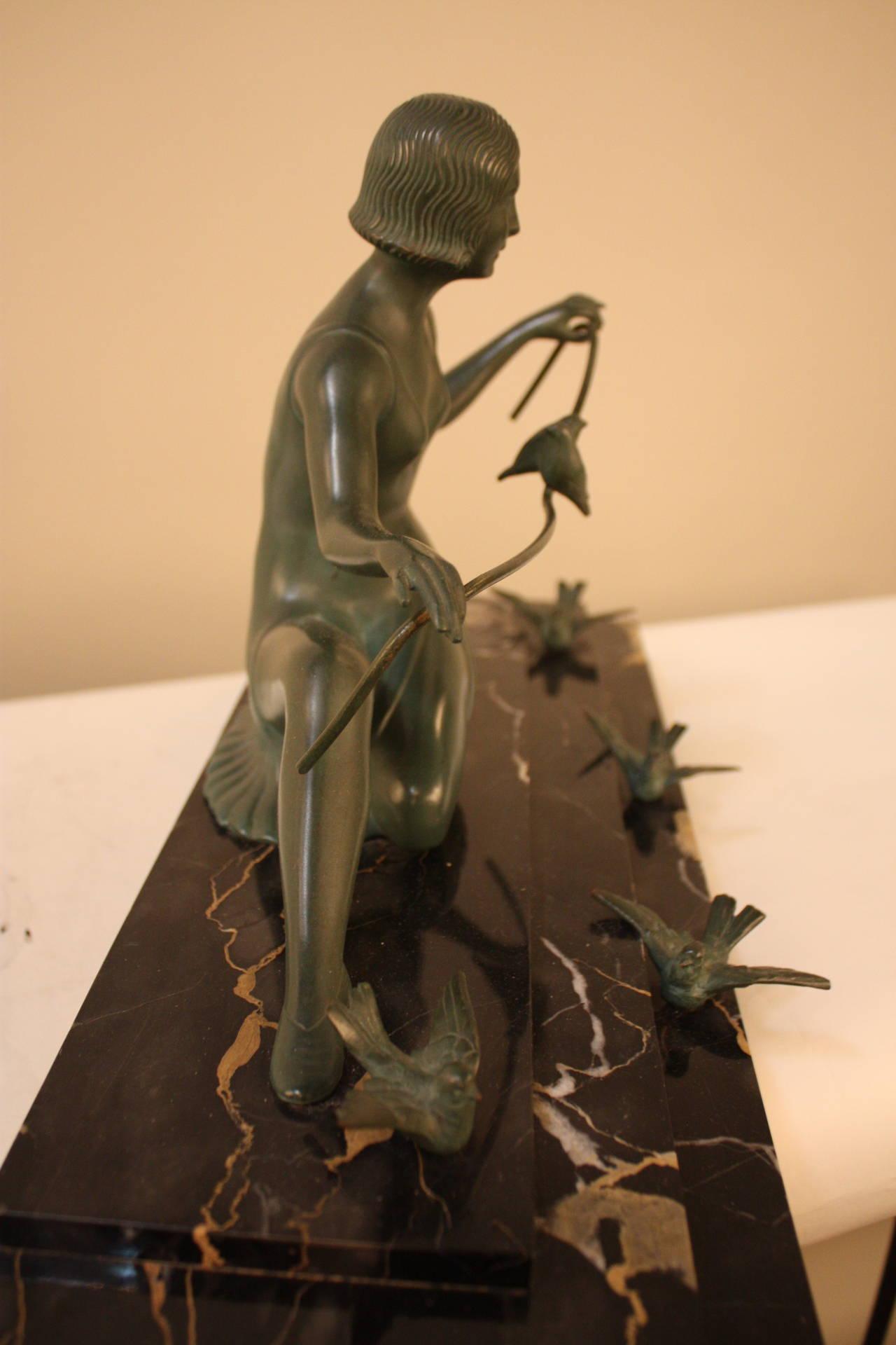 Art Deco Bronze Sculpture by Zoltan Kovats In Good Condition In Fairfax, VA