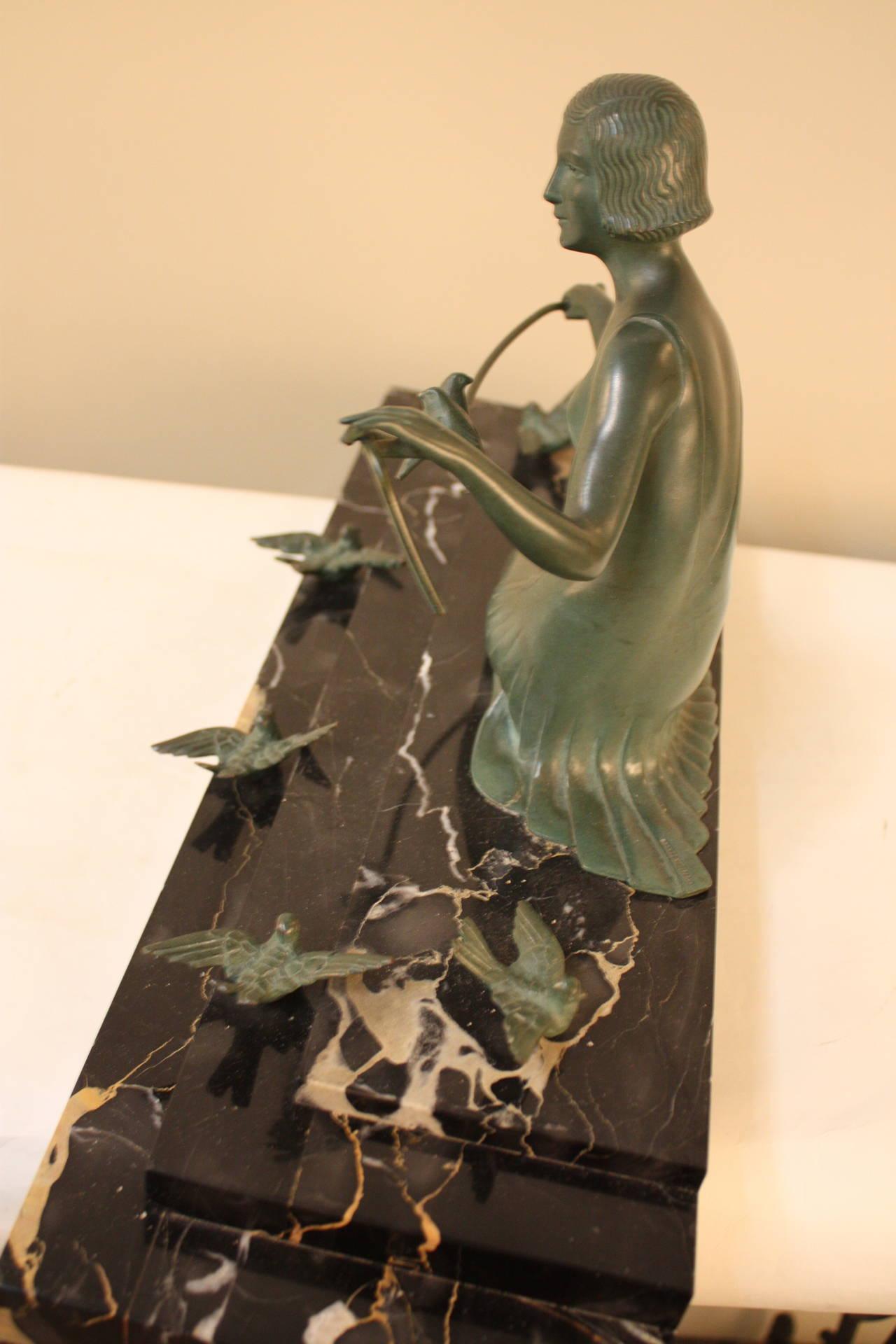 Art Deco Bronze Sculpture by Zoltan Kovats 1
