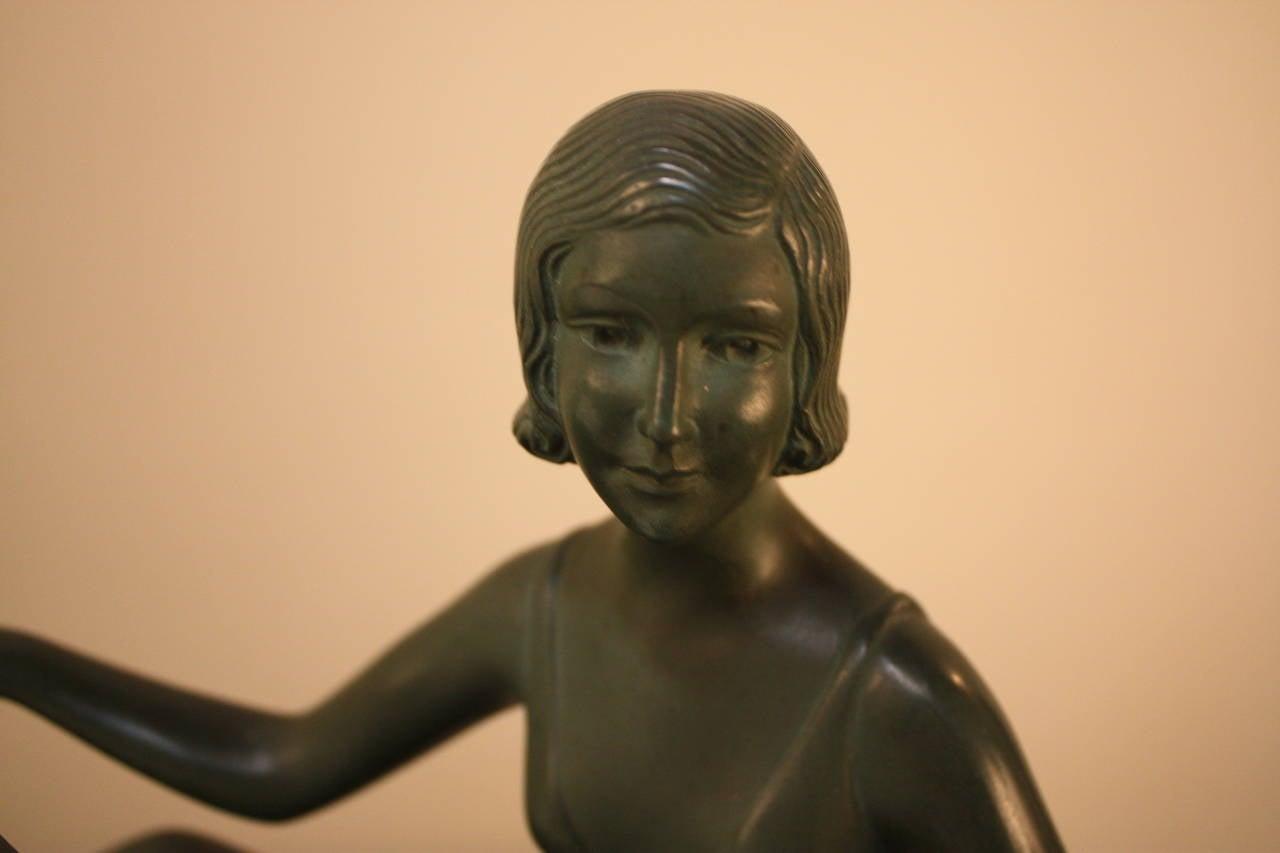Art Deco Bronze Sculpture by Zoltan Kovats 2