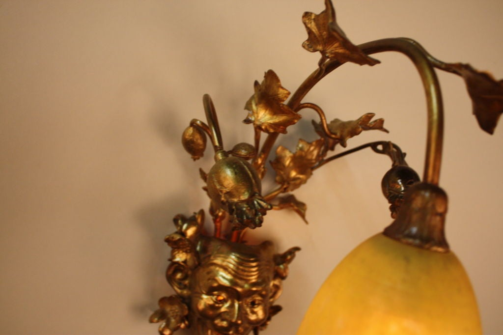 French Bronze Wall Sconce 4